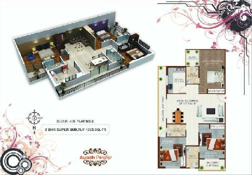 3 BHK Flat For Sale In Airport Road, Harahua, Varanasi
