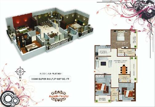 3 BHK Flat For Sale In Airport Road, Harahua, Varanasi.