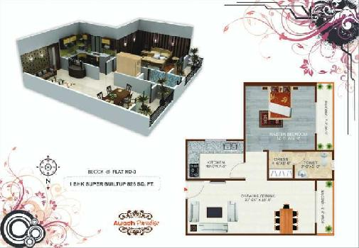1 BHK Flat For Sale In Airport Road, Harahua, Varanasi.
