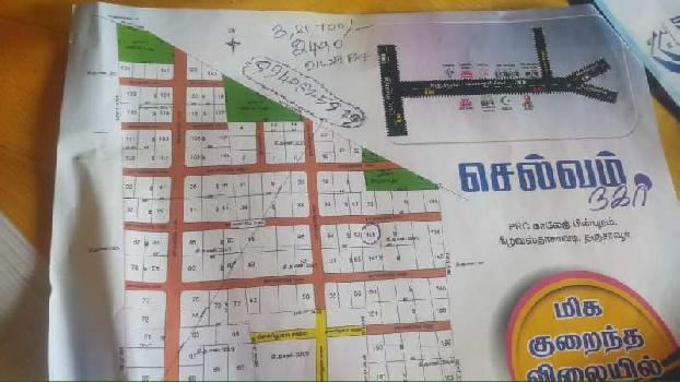 Residential Plot  for Sale in Selvam Nagar, Keelavasthachavadi, Thanjavur