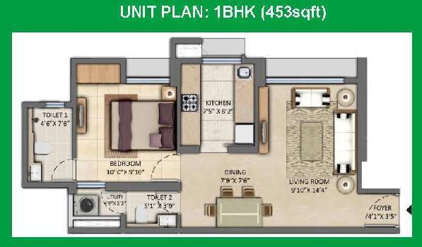 1 BHK Flat For Sale In Kolshet Road, Thane