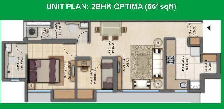 2 BHK Flat For Sale In Kolshet Road, Thane