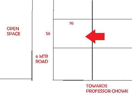 PURE RESIDENTIAL PLOT FOR SALE SUITABLE FOR BUNGLOW AT PROFESSOR CHOWK PRIME LOCATION