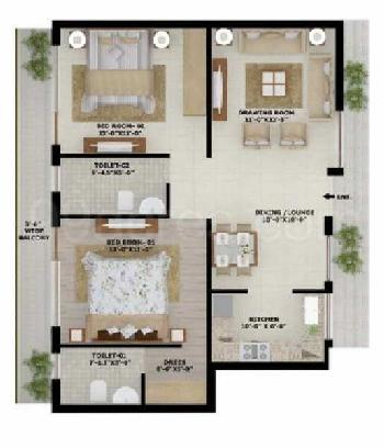 2 BHK Flats & Apartments for Sale in Kharar Kurali Road, Mohali