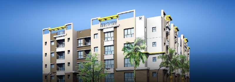 3BHK flat near Birati Sarath Colony in Complex at 37Lakhs