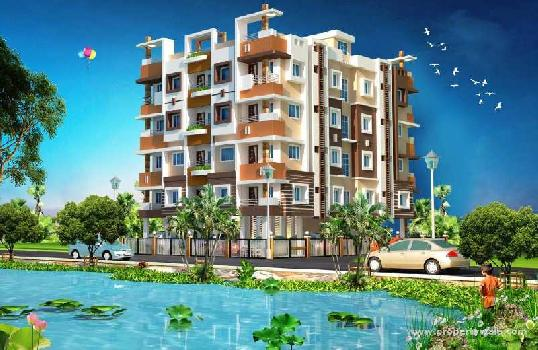 2bhk flat 730sq.ft on 3rd floor with lift near khardah Basanti kunjo
