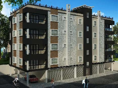2bhk flat in complex at madhyamgram near APC College with roof garden
