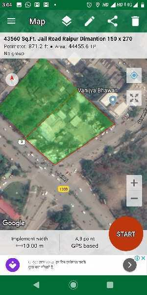 44000 Square feet Corner Commercial Open Plot For Sale At Jail Road To Railway Station Roads Fafadih Raipur
