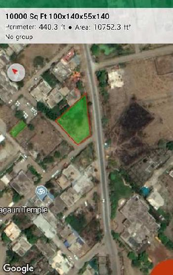 10000 Squares feet Double Corner commercial non diverted plot for sale at Behind Avanti Vihar ,to St. Zevier Shristi Plazoo Roads, Telibandha Raipur capital of chhattisgarh.