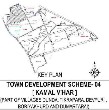 6611, 10756 , 11093 , 28836 , 37984 Square feet  Hospital Use Lay Out Approval Diversion Plot For Sale At Kamal Vihar Sector Dunda , Devpuri , Tikarapara, Boriyakala, Boriyakhurd, Kamal Vihar Raipur , Chhattisgarh. Bharat Indi6 Plot Sale Price 1600.0