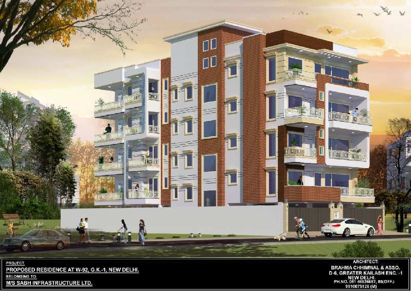 4 BHK Flats & Apartments for Sale in Block W, Greater Kailash I, Delhi