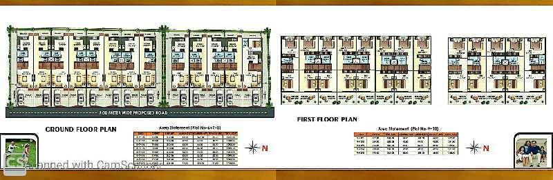 1000sq.ft row houses 2bhk