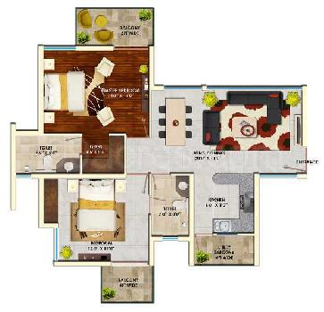 2BHK WITH 2 TOI