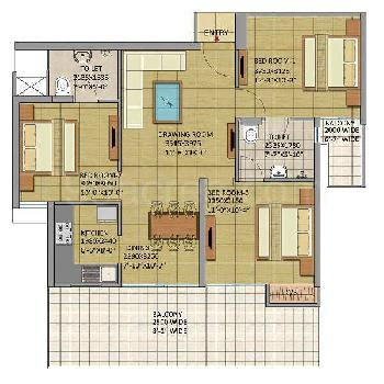 3 BHK READY TO MOVE IN FLAT BOOK ONLY IN RS 51000