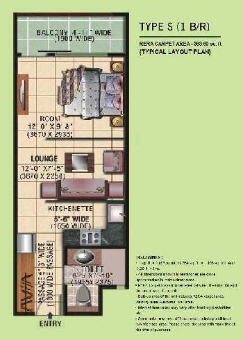 1 BHK Studio Apartments for Sale in Sector 119, Noida