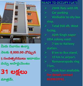 Buy flat get 8000/ income per month for 5 years.
