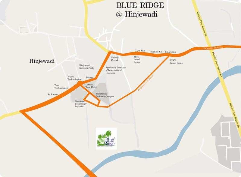 Available 3 Bhk Flat On Rent in Paranjape Blue Ridge, Hinjewadi.