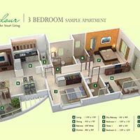 Available 3BHK 1500 sq.ft. Flat for Sale in Megapolis, Hinjewadi.