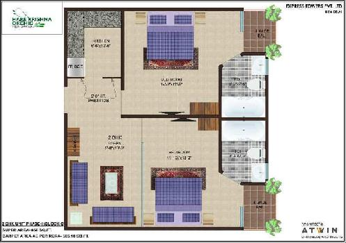 2 BHK Flat For Sale In Hare Krishna Orchid Phase 2, B Block Phase 2 & 3, NH - 2, Vrindavan.