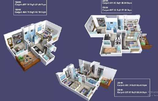 1 BHK Flats & Apartments for Sale in Pashan Sus Road, Pune