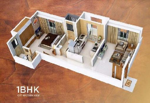 1 bhk with master bed in bhayander new golden nest