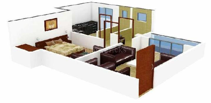 2 bhk with master bed