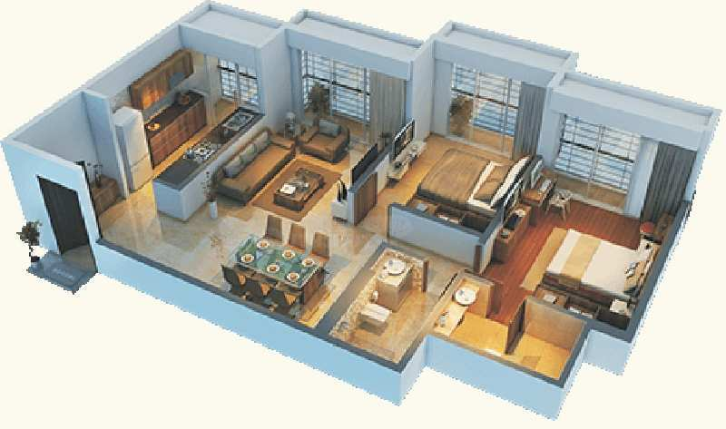 3 bhk flat in bhayander new golden nest
