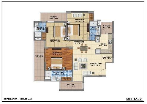 3 BHK Flats & Apartments for Sale in Sector 115, Mohali