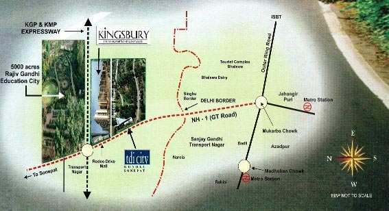 Tdi City Kingsbury Apartments 3 BHK for Sale for 65 Lacs