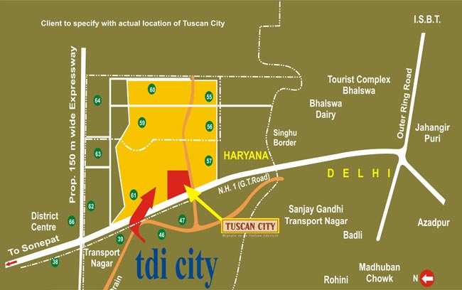 Tdi Tuscan Floors for Sale in Kundli On 2nd Floor for 42 Lacs