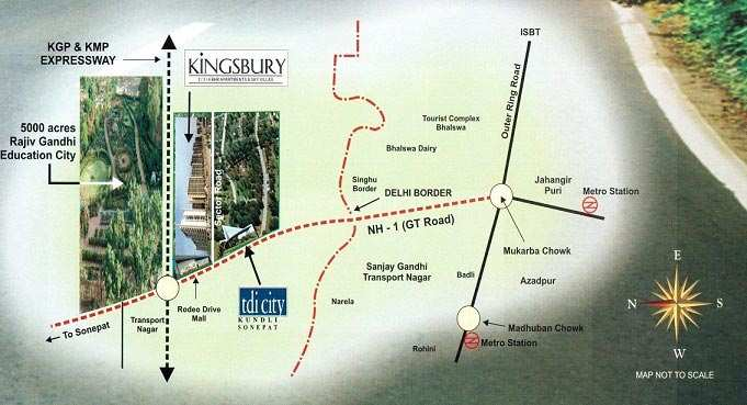 W-6/130#,Tdi City Kingsbury Apartments Up for Sale for 50 Lacs (3 Bhk)