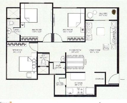 3 BHK flat for sale in Shalimar