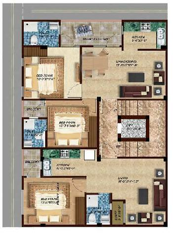 2 BHK Flat For Sale In Laxman Vihar, Gurgaon