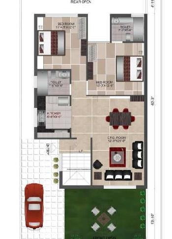 2 BHK Luxury Villas for Sale in Prime Location of Dehradun@ Rs. 65 Lac.
