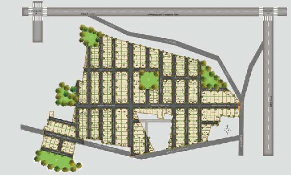 nandanavanam 60 acres mega gated  community layout for sale at atchutapuram