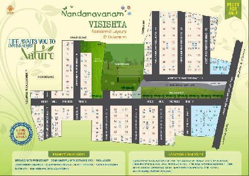 NANDANAVANAM  RESIDENTIAL VUDA APPROVED OPEN PLOTS FOR SALE AT  DAKAMARRI