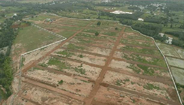 48 ACRES RESIDENTIAL VUDA APPROVED OPEN PLOTS WITH HOUSE CONSTRUCTION FOR SALE AT DUVVADA