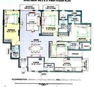 4 BHK Residential Apartment  for Rent in Gurgoan