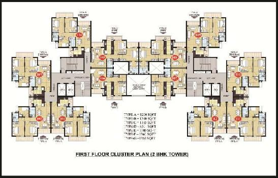 A 2bhk +study flat available in omaxe ananda