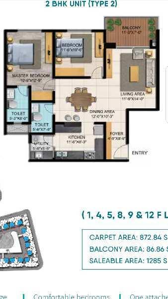 2&3bhk flat for sale in shriram blue