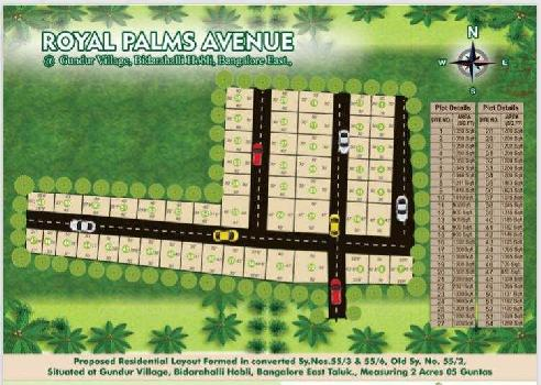 plots for sale in Gated Community near Horamavu