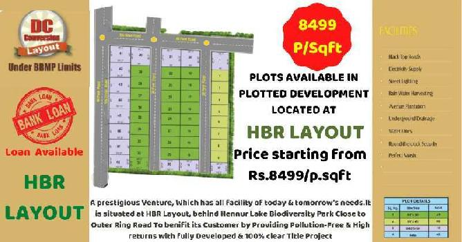 1350 Sq.ft. Residential Plot for Sale in Hbr Layout, Bangalore