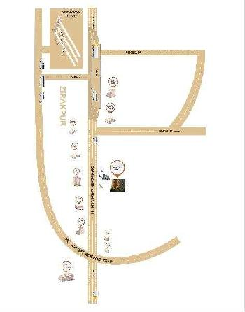 1 BHK Flats & Apartments for Sale in Zirakpur Road, Zirakpur, Chandigarh