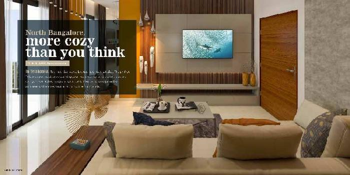 NEWLY LAUNCHED- 1 BHK Smart Spacious Luxury Apartments In Yelahanka, North Bangalore -LUXURIOUS TOWNSHIP- CLOSE  TO LAKE