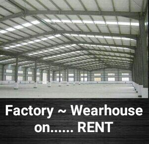 10,000 to 2,00,000 Sft WEARHOUSES on Rent