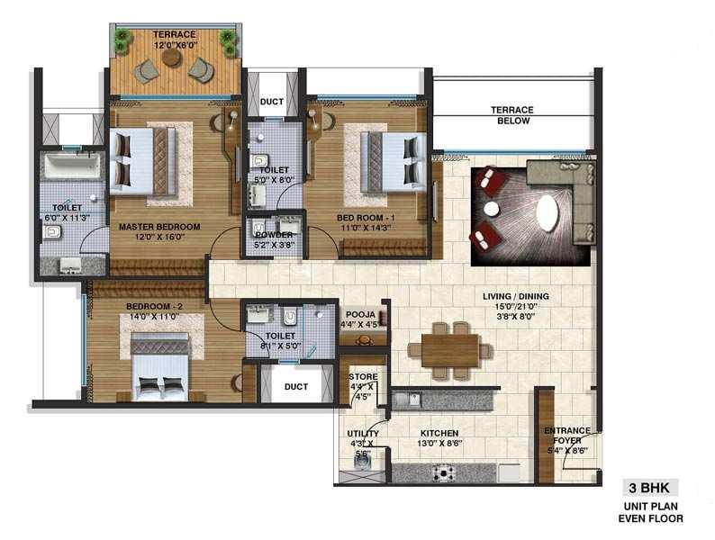 3 BHK Apartment At Pune, dehu Road, 1.23 Cr