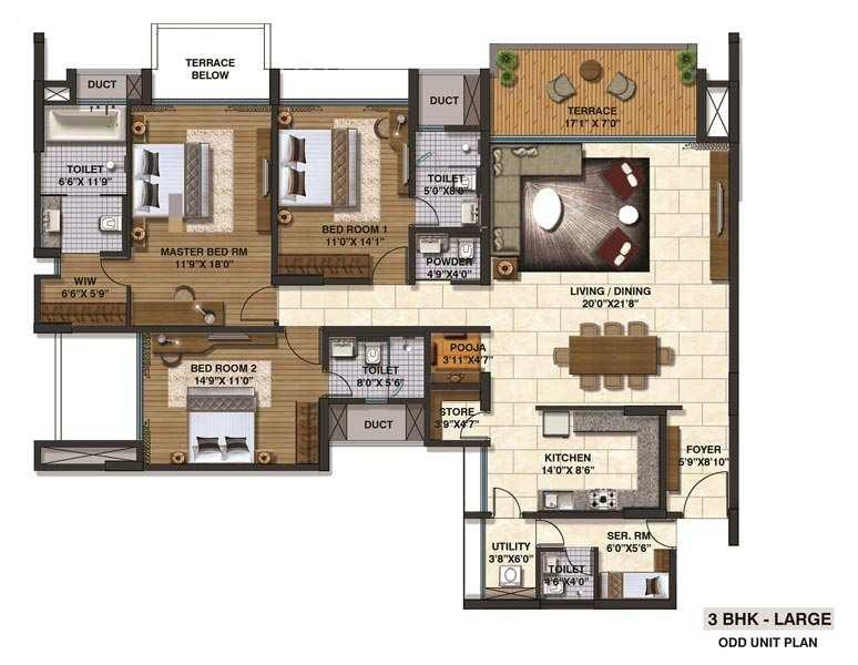 3 BHK Large Apartment At Mumbai-Pune-Expressway, 1.58 Cr
