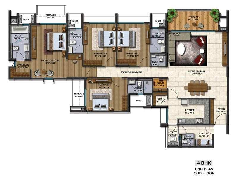 4 BHK Apartment At Mumbai-Pune-Expressway, 2.15 Cr