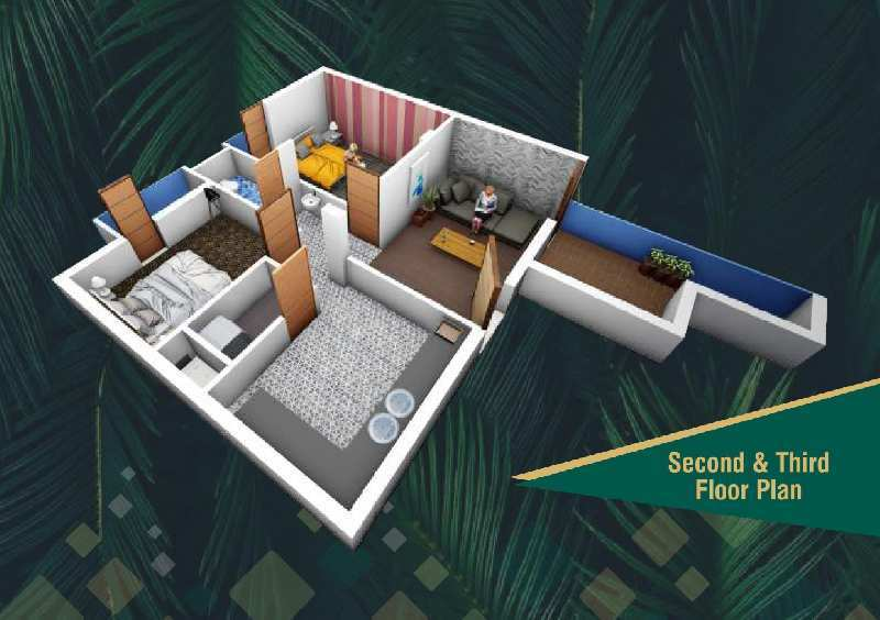 984 Sq.ft. Flats & Apartments for Sale in Gokul Road, Hubli