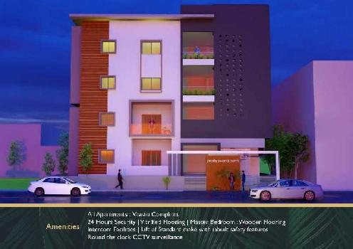 1057 Sq.ft. Flats & Apartments for Sale in Gokul Road, Hubli